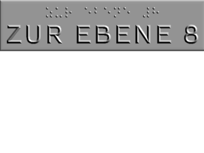 ZUR EBENE 8 in Polished Metallic Plastic
