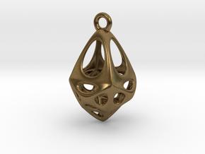 Rhomboid Pendant in Natural Bronze