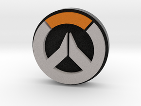 Overwatch Logo Coin in Full Color Sandstone