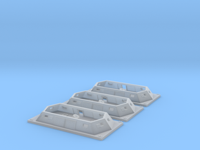 3 Generic Mortar boats 1/600 in Frosted Ultra Detail