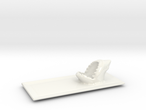 Shark  Seafood sushi plate in Gloss White Porcelain
