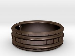 NeoNordic Steel Bracelet in Polished Bronze Steel