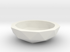 Fruit bowl or Plant pot (19 cm) in White Natural Versatile Plastic