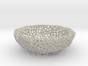 Bowl (19 cm) - Voronoi-Style #3 in Natural Sandstone