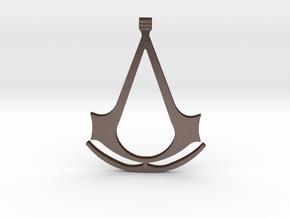 Assassins Creed Pendant in Matte Bronze Steel