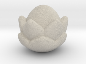 Small Lotus Massage Tool in Natural Sandstone