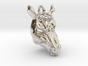 Horse 2 Pendant in Platinum