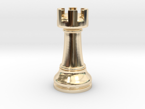 02Rook Small Single in 14k Gold Plated Brass