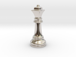 05Queen2 Small Single in Rhodium Plated Brass