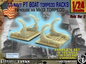 1-24 PT Torpedo Rack TypA in Frosted Ultra Detail