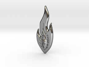 COSMEYEPENDANT2 in Fine Detail Polished Silver