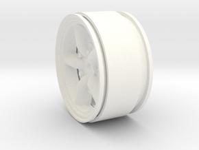 Mach 5 1.9 Beadlock Wheel 12mm hex +3mm offset in White Processed Versatile Plastic