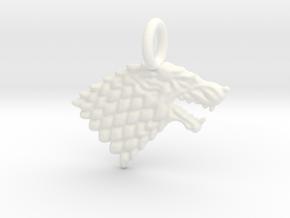 Stark Sigil Keychain in White Processed Versatile Plastic