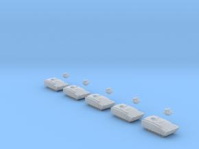 1:285 Kurganets-25 APC x 5 in Smooth Fine Detail Plastic