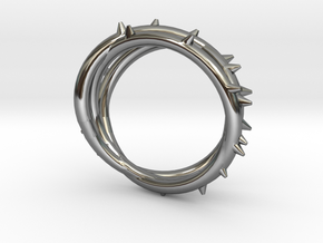 Rose Thorn Ring - Sz.10 in Fine Detail Polished Silver