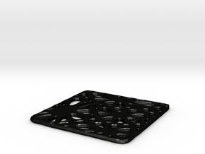 Medium coaster in Matte Black Steel