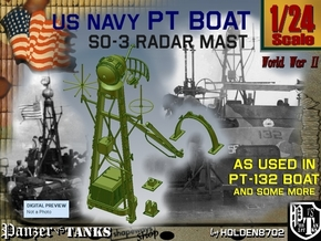 1-24 SO-3 Radar Mast PT-132 in Frosted Ultra Detail