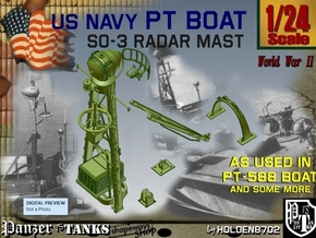 1-24 SO-3 Radar Mast PT-588 in Smooth Fine Detail Plastic
