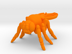 Drosophila Desk Toy in Orange Processed Versatile Plastic