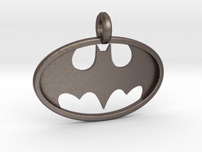 Classic Batman Keychain in Polished Bronzed Silver Steel
