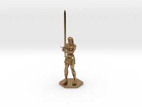 Warrior Elf in Natural Brass