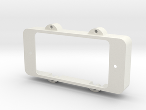 Jazzmaster Pickup Cover - Open Humbucker Mount in White Natural Versatile Plastic
