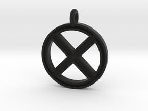 X-Men Keychain in Black Natural Versatile Plastic