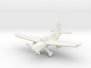 Curtiss SO3C Seamew (with landing gear) 1/200 in White Natural Versatile Plastic