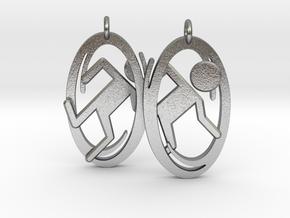 Portal Earrings in Natural Silver