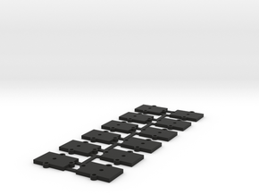 (12) O Gauge 2mm Shims in Black Natural Versatile Plastic