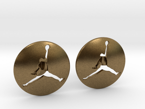 Jumpman Cufflinks v3 in Natural Bronze