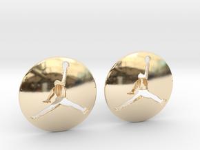 Jumpman Cufflinks v3 in 14k Gold Plated Brass