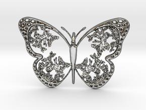 Vlinder2 in Polished Silver