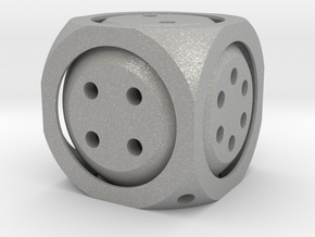 Double D6 Dice in Aluminum
