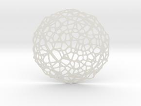 Drink coaster - Voronoi #5 (8 cm) in White Natural Versatile Plastic