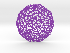 Drink coaster - Voronoi #7 (8 cm) in Purple Strong & Flexible Polished