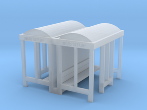 Bus Stop - N 160:1 Scale Qty (2) in Smooth Fine Detail Plastic