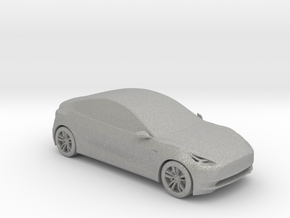 1/50 Tesla Model 3 in Raw Aluminum