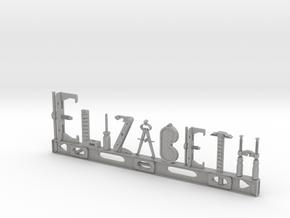 Elizabeth Nametag in Aluminum