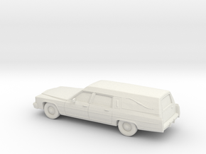 1/87 1985-89 Cadillac Hearse in White Strong & Flexible