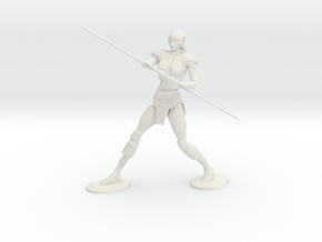 Armored Female Elf  in White Natural Versatile Plastic: Medium