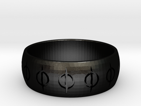 MTG Phyrexia Ring 8.5 in Matte Black Steel