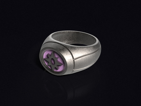 Violet Lantern Ring in Stainless Steel