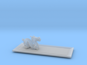 Dragon Plate  in Smooth Fine Detail Plastic