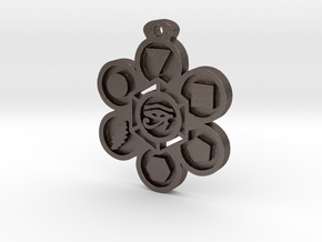 Stages of Creation Pendant in Polished Bronzed Silver Steel
