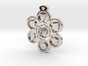 Stages of Creation Pendant in Rhodium Plated Brass