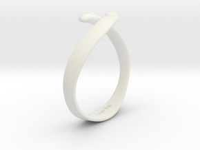 """I Love You"" Ring in White Natural Versatile Plastic"