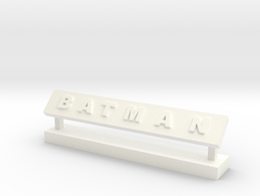 Batman Desk Decor in White Strong & Flexible Polished