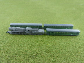 German Steam Passenger Train 1/285 6mm in Smooth Fine Detail Plastic