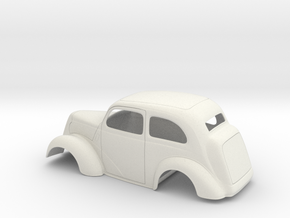 1/8 1949 Anglia Full Body Slammer in White Natural Versatile Plastic